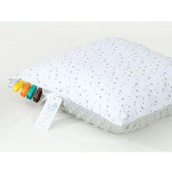 poduszka minky dwustronna 40x40 mini gwiazdki szare na bieli / jasny szary marki Mamo-tato