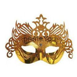 Apollo Maska wenecka z ornamentem, złota