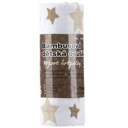 T-tomi Ręcznik bambusowy, beżowe gwiazdki (8594166541276)