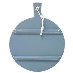 HK Living Okrągła deska drewniana M niebieska HAP6171