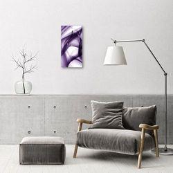 Tulup.pl Zegar szklany pionowy sztuka abstrakcja purpurowy