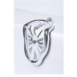 :: zegar flow - biurkowy srebrny, marki Kare design