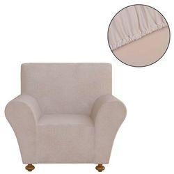 elastyczny pokrowiec na fotel, z dżerseju, beżowy marki Vidaxl