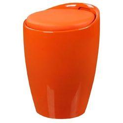 Stołek, puf TUBO - King Home - pomarańczowy ABS, KH-stołek-TUBO-pomarańczowy