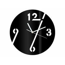Zegar z pleksi na ścianę cyfry z białymi wskazówkami marki Congee.pl