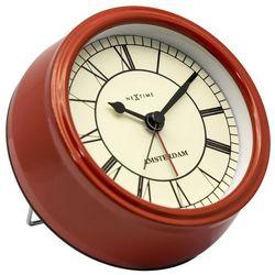 NeXtime - Zegar stojący Small Amsterdam - czerwony
