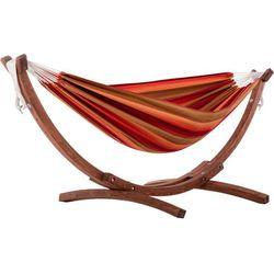Hamak dwuosobowy Sunbrella + drewniany stojak, Tęczowy C8SPSN