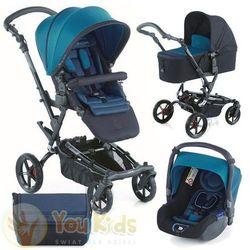 Od youkids zestaw epic 3w1 wózek + gondola micro + fotelik koos - s46 teal marki Jane