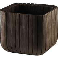 Keter kwietnik cube planter l - brązowy (7290106927919)