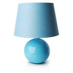 Dekoracjadomu.pl Lampa nocna z abażurem niebieska
