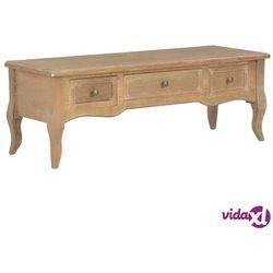 vidaXL Szafka pod TV, brązowa, 100 x 35 x 35 cm, drewniana