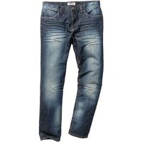 "Dżinsy Regular Fit Tapered bonprix dirty denim ""used"""