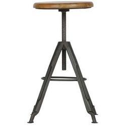 Woood stołek brenna metalowy 373790-z, 373790-Z