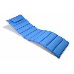 Poduszka Garthen na leżak niebieska