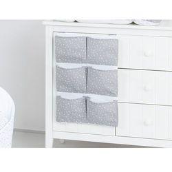 Mamo-tato przybornik organizer na łóżeczko mini gwiazdki białe na szarym