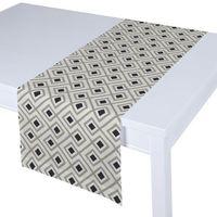 Dekoria  bieżnik prostokątny, czarno-szare rąby na białym tle, 40x130 cm, geometric
