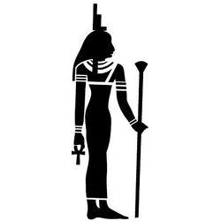 Szablon malarski z tworzywa, wielorazowy, wzór etniczny 28- egipska bogini marki Szabloneria