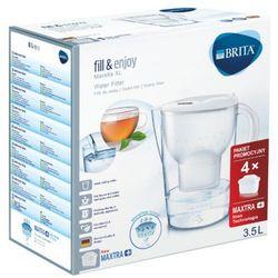 Brita 3,5l marella dzbanek filtrujący xl biały + 4 wkłady maxtra+