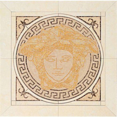 PALACE LIVING Rosoni in ceramica Oro/Almond/Beige/Nero 50x50 (P81) - oferta [45ff4f7817d526e5]