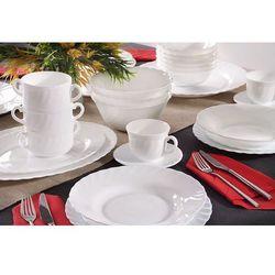 LUMINARC TRIANON WHITE Serwis obiadowy i kawowy 174/24