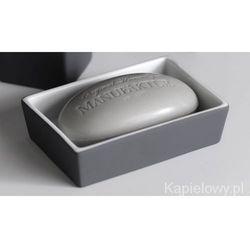 SOFTY Mydelniczka cermiczna szara/soft touch SO21Q - produkt z kategorii- Mydelniczki