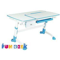 Fundesk Amare blue with drawer - ergonomiczne, regulowane biurko dziecięce z szufladą