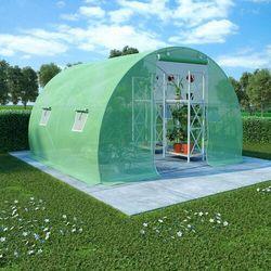 VidaXL Szklarnia ogrodowa, stalowa rama, 6 m², 3x2x2 m (8719883796192)