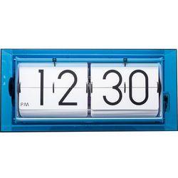 Zegar klapkowy stołowy, ścienny Big Flip Clear niebieski by Nextime, 5209BL
