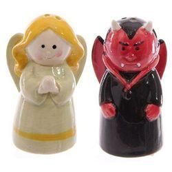 Anioł i Diabeł - solniczka i pieprzniczka projekt: Lisa Parker - produkt z kategorii- Pojemniki na przyprawy