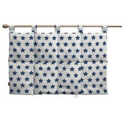 Dekoria Wezgłowie na szelkach, granatowe gwiazdy na białym tle, 90 x 67 cm, Ashley