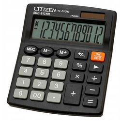 Kalkulator CITIZEN SDC-812NR 12-cyfrowy 127x105mm czarny