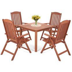 Home&garden Meble ogrodowe drewniane meranti square (5902425326176)