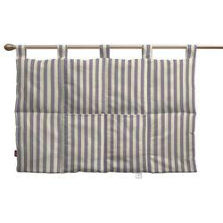 wezgłowie na szelkach, granatowo białe pasy (1,5cm), 90 x 67 cm, quadro marki Dekoria