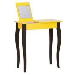 Toaletka z lustrem LILLO żółty z czarnymi nogami