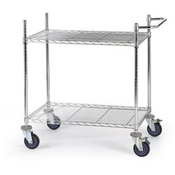 Wózek stołowy z kratą drucianą, z półkami, dł. x szer. x wys. 910x610x1025 mm, 2 marki Seco