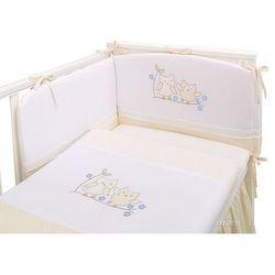 pościel 3-el sówki uszatki biszkoptowe do łóżeczka 70x140cm marki Mamo-tato