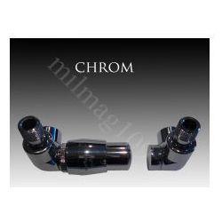Zestaw zaworów grzejnikowych termostatycznych LUX lewy CHROM (zawór i głowica ogrzewania)
