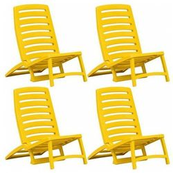 Komplet leżaków plażowych Lido - zółte, vidaxl_45625
