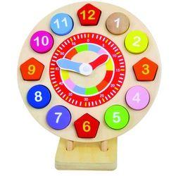 drewniany zegar marki Bino