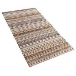 Dywan brązowy bawełniany 80x150 cm NIKSAR (4260580937332)