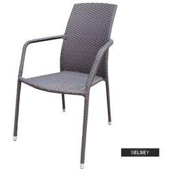 SELSEY Krzesło ogrodowe Sokoto brązowe (5903025283906)