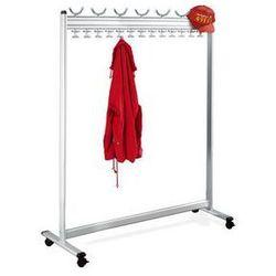 Szeregowy stojak na ubrania, wys. x gł. 1700 x 400 mm,bez stojaka na parasole marki Unbekannt