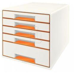 Pojemnik wow dwukolorowy z 5 szufladami pomarańczowo-biały 52141044 marki Leitz