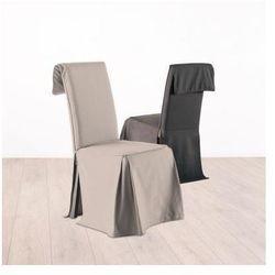 Bawełniany pokrowiec na krzesło, narzut na fotel, okazjonalny, beżowy kolor (3560239416630)