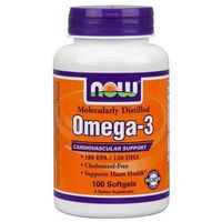 Omega - 3 180 epa 120 dha 1000mg 100 kapsułek  marki Now foods