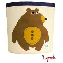 3 sprouts  kosz na zabawki/pranie - niedźwiadek