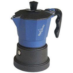 Kawiarka Top Moka TOP 6 filiżanek - czarno niebieska