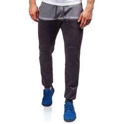 Antracytowe spodnie dresowe baggy męskie Denley 6026 - ANTRACYTOWY, kolor szary