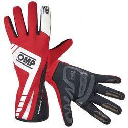 Rękawice OMP First Evo - Czerwono / Biały - produkt z kategorii- Rękawice motocyklowe