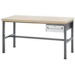 Stół warsztatowy z płytą mdf,1 szuflada o wys. 150 mm marki Rau